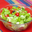White dish of salad with fresh — Foto Stock