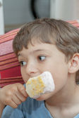 Boy With Ice Cream — Stock Photo