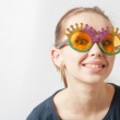 Party Woman In Glasses — Stock Photo #25611377