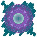 Zodiac sign The Twins (gemini) green — Stock Vector