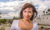 Portrait of beautiful woman... — Stock Photo