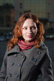 Redhead women outdoor autumn fall shot — Stockfoto