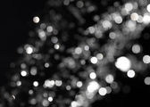 Bokeh sur fond noir — Photo