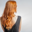 Back view of Red hair Beautiful Woman — Stock Photo #34559861