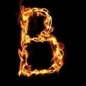 Fire alphabet letter — Vector de stock