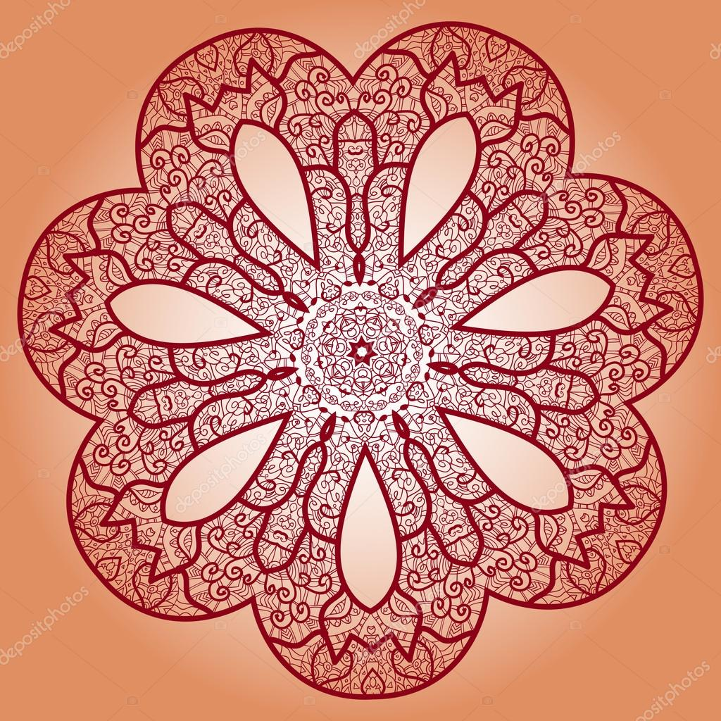 oriental mandala motif stock vector mettus 34741549. Black Bedroom Furniture Sets. Home Design Ideas