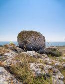 Big stone against sky — Stock Photo