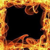 Frame of fire — Stock Photo