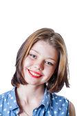 Smiling teen blonde — Stock Photo