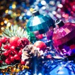 Stockfoto: Xmas balls red and blue