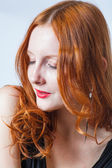 Redhead in studio — Stock Photo