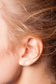 Picture of the womens ear — Stock Photo