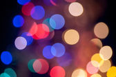 Abstract circular bokeh background of Christmas lights — Stock Photo
