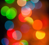 Abstract circular bokeh background of Christmas lights — Foto Stock