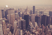 NYC from above toned — Stock Photo