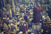 NYC from above toned — Foto de Stock