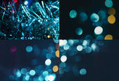 Set of holiday blurred backgrounds — Stock Photo