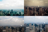 Midtown Manhattan in New York City from high perspective — Stock Photo