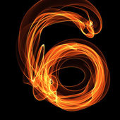 Digit in fire illustration — Stock Photo