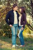 Young couple of college students — Foto de Stock