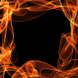 Abstract fire frame copyspace — Stock Photo
