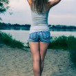 Back view of standing woman. — Stock Photo #39378633