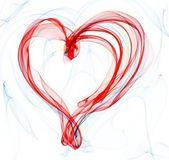 Smoke heart illustration — Stock Photo
