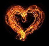 Fire heart illustration — Stockfoto