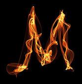 Lettera nell'illustrazione di fuoco — Foto Stock