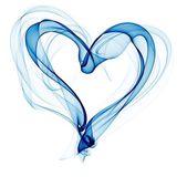 Blue smoke heart illustration — Stock Photo