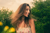 Wind in hair in summer — Stock Photo