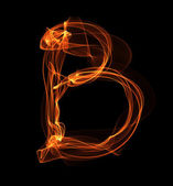 Brief in Feuer-Abbildung — Stockfoto