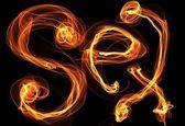 Illustrazione di fuoco di amore — Foto Stock