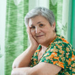 Portrait of a happy smiling senior woman — Stock Photo