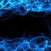 Frame of a blue smoke on black — Stock Photo
