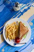 Sandwich sur plaque et frit — Photo