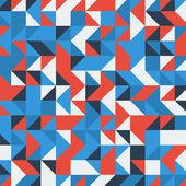 Uppsättning av en blå och röda trianglar som bakgrund — Stockvektor