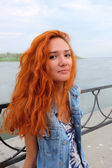 Chica de pelo roja — Foto de Stock
