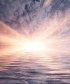 закат в океане — Стоковое фото
