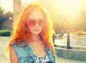 červené vlasy holka — Stock fotografie