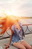 Femme rousse — Photo