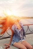 Redhead vrouw — Stockfoto