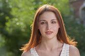 Zrzka mladá žena — Stock fotografie