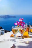 Table above sea for two — Stock Photo