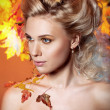 Woman in the image of autumn - Stock Photo