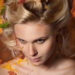 Woman Autumn — Stock Photo #14237479