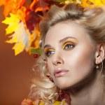 Woman Autumn — Stock Photo #14237487