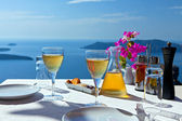 Table above sea for two. — Stock Photo