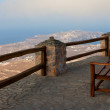 Bench on the edge — Stock Photo
