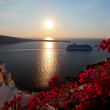 Sunset santorini island — Stock Photo #16024319